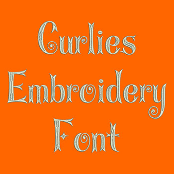 Machine Embroidery Font - Curlies Font