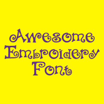 Machine Embroidery Font - Awesome Font