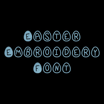 Machine Embroidery Font - Easter Font