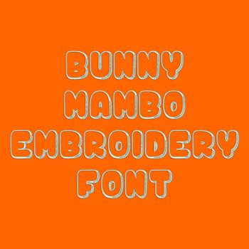 Machine Embroidery Font - Bunny Mambo Font