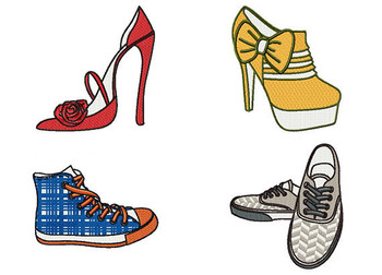 Shoe Collection Bundle #2 Machine Embroidery Designs
