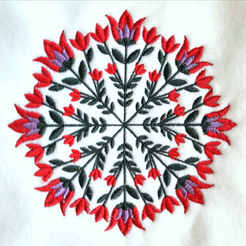 Bellflower - Circle of Flowers Collection #01 Machine Embroidery Design