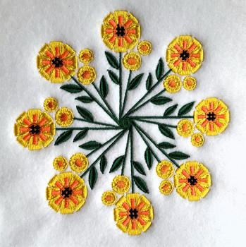 Sunflower - Circle of Flowers Collection #04 Machine Embroidery Design