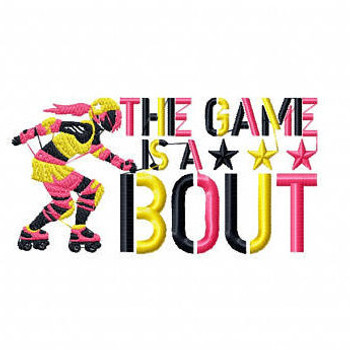 The Game Is A Bout - Roller Derby Girl #1 Machine Embroidery Design