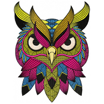 Detailed Owl Face B
