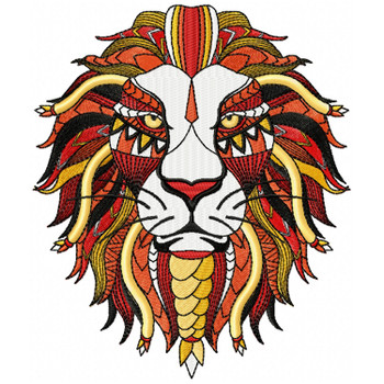 Detailed Lion Face A