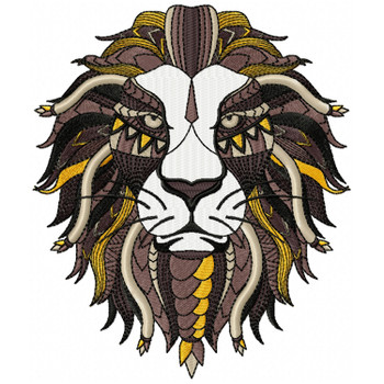 Detailed Lion Face B