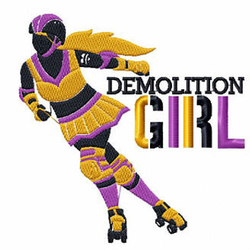 Demolition Gir - Roller Derby Girl #5 Machine Embroidery Design