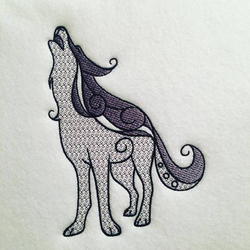Ornamental Wolf - Ornament Animal Collection #27 Machine Embroidery Design