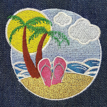 Palm Tree - Summer Beach Collection #09 Machine Embroidery Design