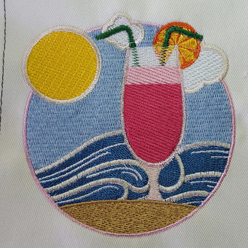 Cocktail- Summer Beach Collection #10 Machine Embroidery Design