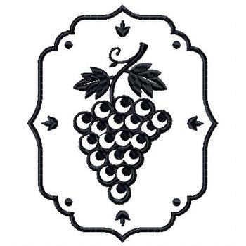 Grapes Wine Bag Design #6 Machine Embroidery Design