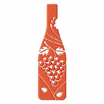 Grape Bottle - Wine Bag Design #10 Machine Embroidery Design