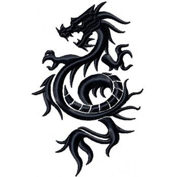Dragon Tattoo - Tribal Dragon #1 Machine Embroidery Design