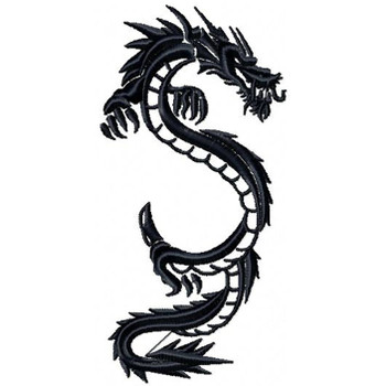 Chinese Dragon Tattoo - Tribal Dragon #4 Machine Embroidery Design