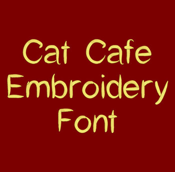 Cat Cafe Machine Embroidery Font Now Includes BX Format