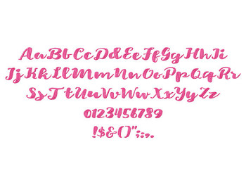 Cutie Star Machine Embroidery Font Now Includes BX Format