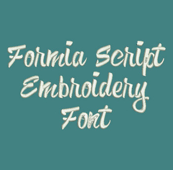 Formia Script Embroidery Font Now Includes BX Format!