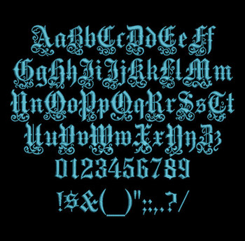 Ornate Medici Machine Embroidery Font Now Includes BX Format