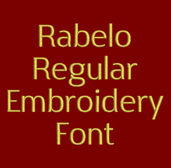 Clean and Simple - Rabelo Regular Embroidery Font Now Includes BX Format