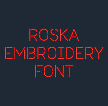 Stencil - Roska Regular Machine Embroidery Font Now Includes BX Format!