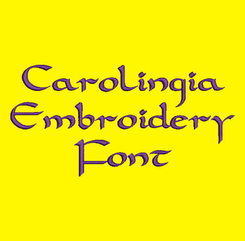 Celtic Style - Carolingia Machine Embroidery Font Now Includes BX Format!