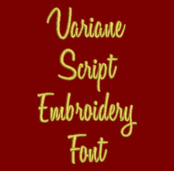 Cursive - Variane Script Machine Embroidery Font Now Includes BX Format!