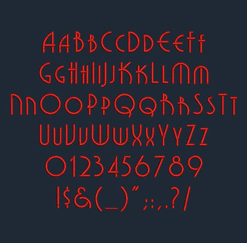 Art Deco - Grenadier NF Regular Machine Embroidery Font Now Includes BX Format!