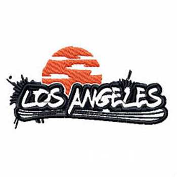 Los Angeles - Geography Graffiti Collection #04 Machine Embroidery Design