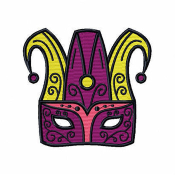 Jester Eyemask - Masquerade Design Collection #11 Machine Embroidery Design
