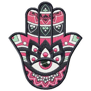 Hamsa Blooms #02 Machine Embroidery Design