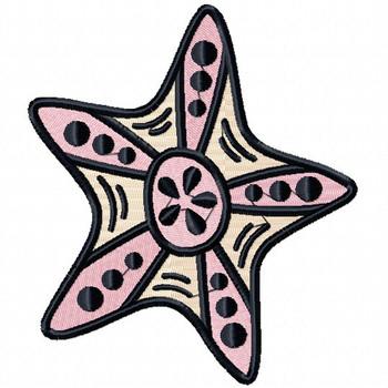Starfish #01 Machine Embroidery Design