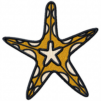 Starfish #02 Machine Embroidery Design