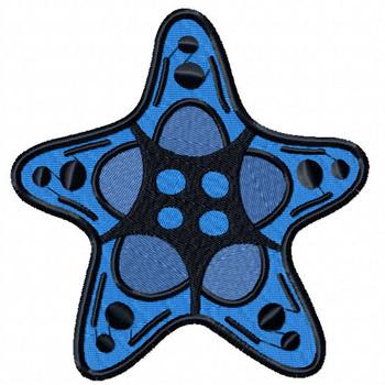 Starfish #04 Machine Embroidery Design