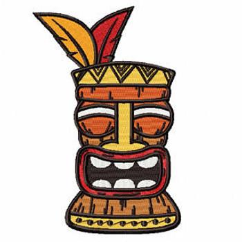 Luau Masks #02 Machine Embroidery Design