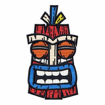 Luau Masks #08 Machine Embroidery Design