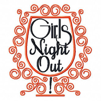 Cocktail Glass - Girls Night Collection #04 Machine Embroidery Design