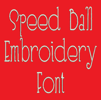 Speed Ball Machine Embroidery Font Now Includes BX Format!