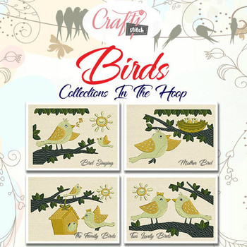 Birds 4 pack mug rug prod pic 1