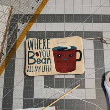 Funny Mug Rug 4 Pack In The Hoop Machine Embroidery Design