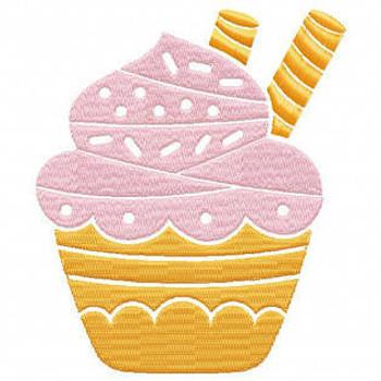 Cupcake #05 Machine Embroidery Designs