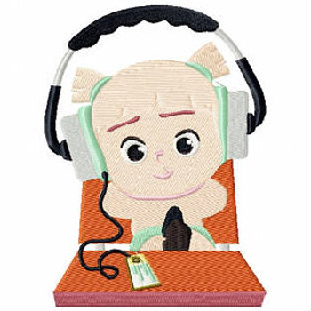 Music Lover - Baby Techie Collection #5 Machine Embroidery Design