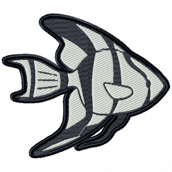 Angel Fish - Under The Sea Collection #01 Stitched and Applique Machine Embroidery Design