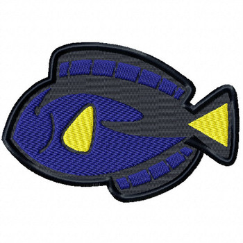 Blue Tang - Under The Sea Collection #02 Stitched and Applique Machine Embroidery Design