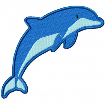 Jolly Dolphin - Under The Sea Collection #04 Stitched and Applique Machine Embroidery Design