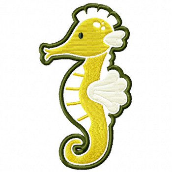 Majestic Seahorse - Under The Sea Collection #07 Stitched and Applique Machine Embroidery Design