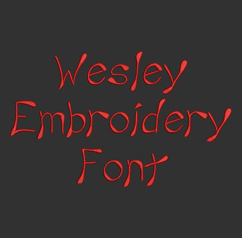 Genie Style Font - Wesley Machine Embroidery Font Now Includes BX Format!