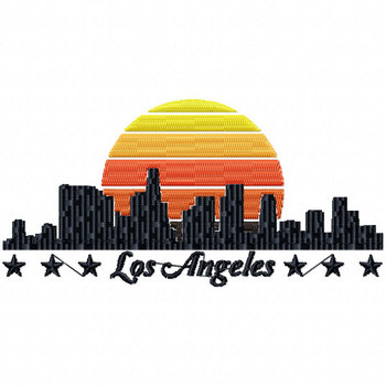 City of Los Angeles - City Collection #06 Machine Embroidery Design