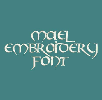 Old Celtic - Mael Machine Embroidery Font Now Includes BX Format!