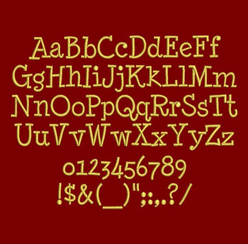 Micky Minnie Font - Minya Nouvelle Machine Embroidery Font Now Includes BX Format!
